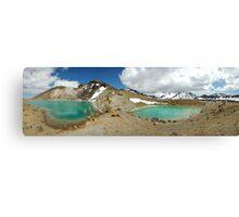 emerald lakes Canvas Print