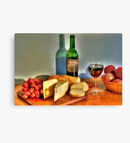 Wine & Cheese Canvas Print