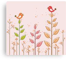 Birds dialogue Canvas Print