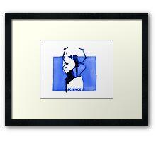 Portal Gun Blue Framed Print