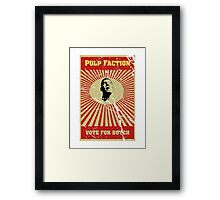 Pulp Faction - Butch Framed Print