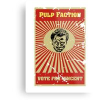 Pulp Faction - Vincent Metal Print