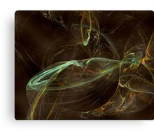 Fractal 12 - green and blue Canvas Print