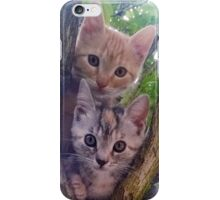 Kittens on a tree. iPhone Case/Skin