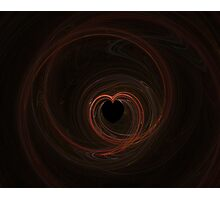 Fractal 13- red heart Photographic Print