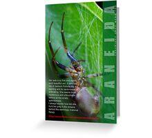 Spider 'man'  Greeting Card