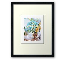 Inspirational Quote - She Believed She Could So She Did. Framed Print