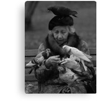Bird Lady of Central Park NYC Canvas Print