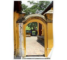 Glimpse of the Imperial City III - Hue, Vietnam. Poster