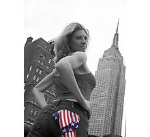 Empire State Girl Photographic Print