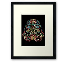 Darth Vader Rainbow Framed Print