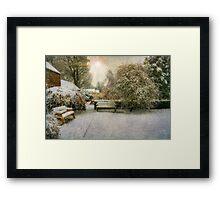 Magical Snowy Garden Framed Print