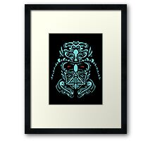 Darth Vader Blue Framed Print