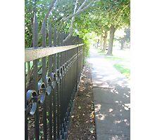 Shadowy Sidewalk Photographic Print