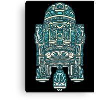 R2D2 Blue Abstract Canvas Print