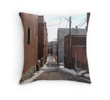 Alley Jamestown, NY Throw Pillow