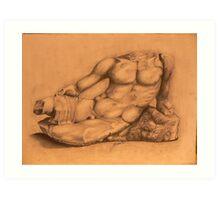 Drawing of Hercules Bust-Louvre Art Print