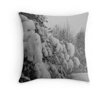 snow on trees Throw Pillow