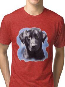 Black Lab Portrait Tri-blend T-Shirt