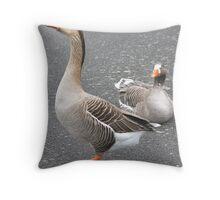 Greylag geese  Throw Pillow