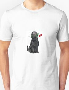 Lbrador Retriever and rose Unisex T-Shirt