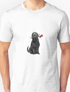 Lbrador Retriever and rose T-Shirt