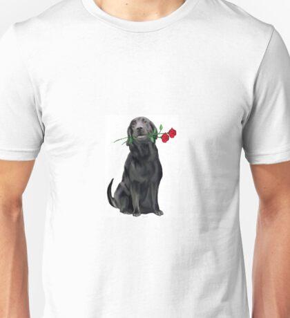 Lbrador Retriever and rose Unisex T-Shirt
