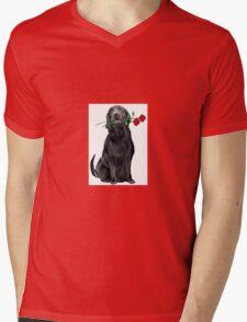 Lbrador Retriever and rose Mens V-Neck T-Shirt