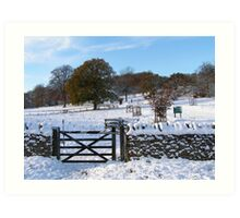 Snowy Gloucestershire England UK Art Print