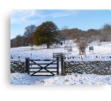 Snowy Gloucestershire England UK Metal Print