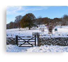Snowy Gloucestershire England UK Canvas Print