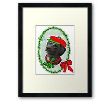 Black Lab Christmas Framed Print