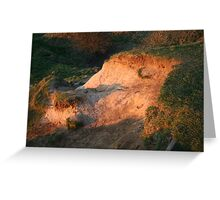 sunset on Brill hills Greeting Card