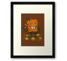 The Pumpkin Log Framed Print