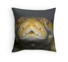My albino python Throw Pillow