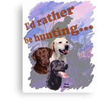 Hunting Labrador Retriever Canvas Print