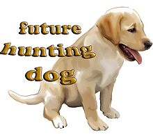 Yellow Lab Puppy Hunting by IowaArtist