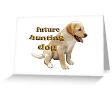 Yellow Lab Puppy Hunting Greeting Card