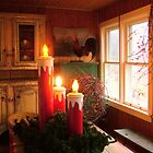 Holiday Candles on the Porch by kkmarais