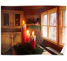 Holiday Candles on the Porch Poster