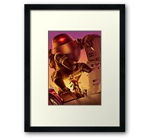 Giant Robot Attack Framed Print