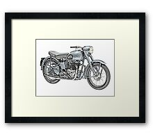 1951 Triumph Thunderbird Motorcycle Framed Print
