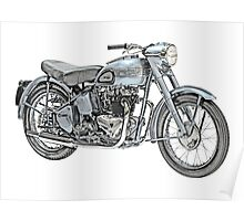 1951 Triumph Thunderbird Motorcycle Poster