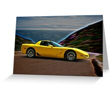 2001 Corvette Z06 Coupe II Greeting Card