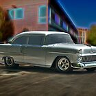 1955 Chevy 'Door Slammer' Post Coupe by DaveKoontz