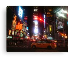 Nightlife Time Square Canvas Print