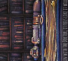 Doctor Who Sonic Screwdriver in the Library by illustore