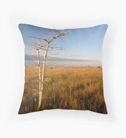 """""""Lone Cypress"""" Throw Pillow"""