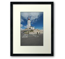 reaching the top Framed Print
