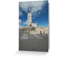 reaching the top Greeting Card